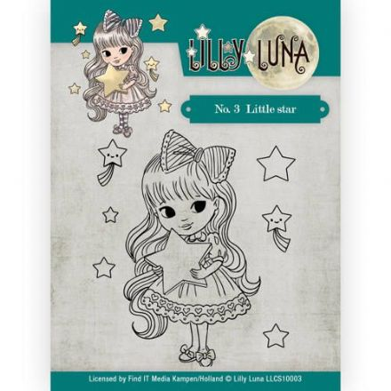 LLCS10003 ~ No.1  Little Star stamp ~ Lilly Luna ~ Yvonne Creations
